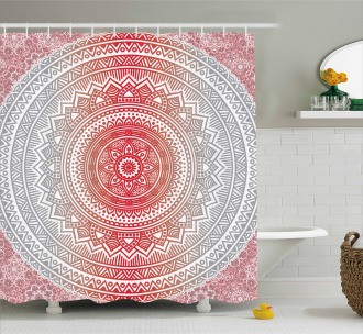 Ombre Mandala Boho Shower Curtain