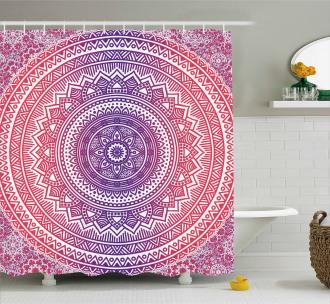 Ethnic Mandala Shower Curtain
