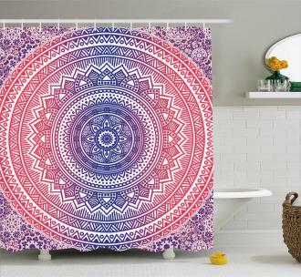 Ombre Mandala Shower Curtain