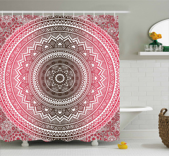 Ombre Zen Ethnic Shower Curtain
