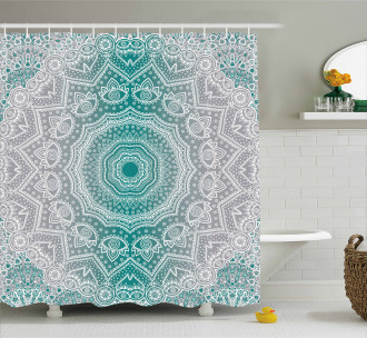 Mandala Occult Motif Shower Curtain