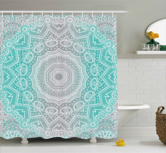 Ombre Ethnic Shower Curtain