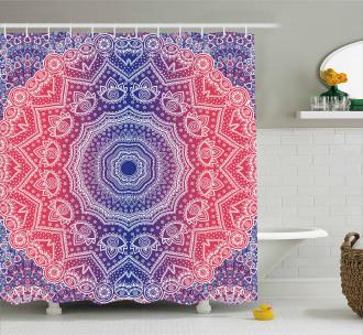 Hippie Ombre Boho Asian Shower Curtain