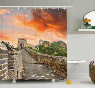 Old Brick Ruins Shower Curtain