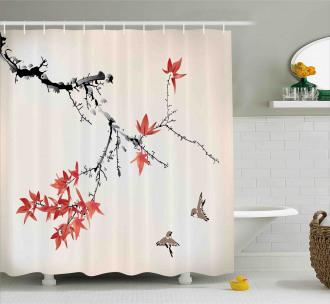 Romantic Spring Theme Shower Curtain