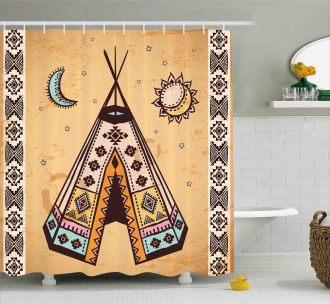 Native Bohemian Signs Shower Curtain