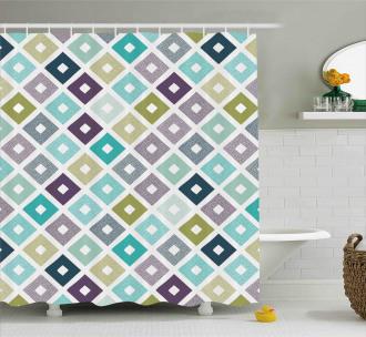 Geometrical Triangles Shower Curtain