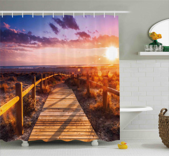 Sunset in Nature Park Shower Curtain