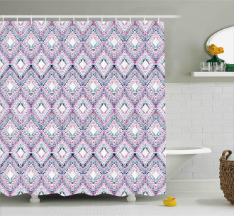 Abstract Tribal Pattern Shower Curtain