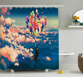 Flying Colors Balloon Shower Curtain