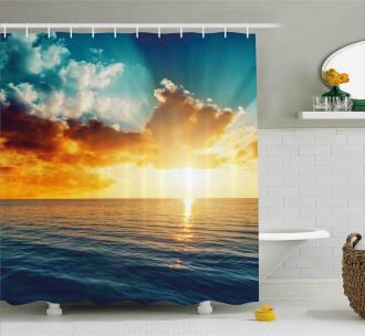 Magical Horizon Panorama Shower Curtain