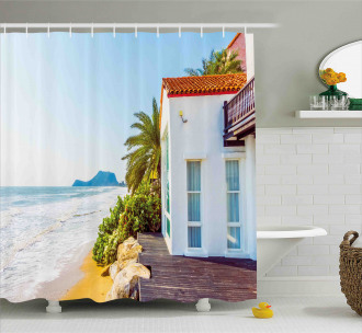 Home Porch View Moroccan Shower Curtain