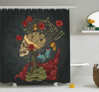 Evil Mexican Sugar Shower Curtain