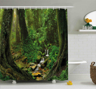 Nepal Asia Jungle Forest Shower Curtain
