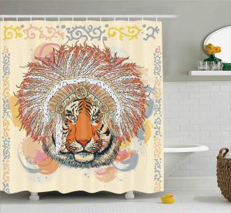 Africa Safari Wild Tiger Shower Curtain