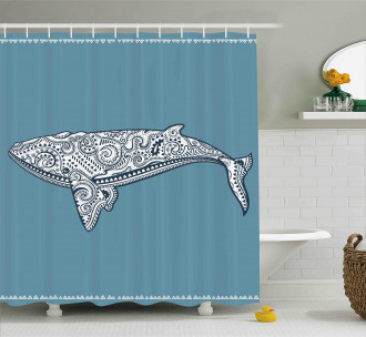 Ethnic Embellish Whale Shower Curtain