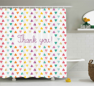 Rainbow Thanks Quote Shower Curtain