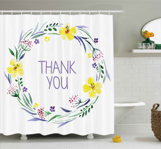 Romantic Floral Quote Shower Curtain