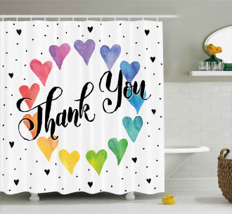 Thank You Quote Color Shower Curtain