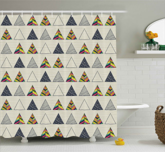 Abstract Triangle Shower Curtain