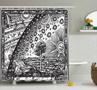 Moon Sun Planets Image Shower Curtain