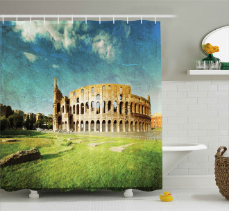 Italian Sunset Rome Shower Curtain