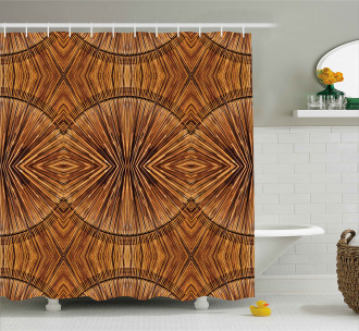 Eastern Bamboo Pattern Shower Curtain