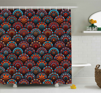 Geometric Floral Forms Shower Curtain