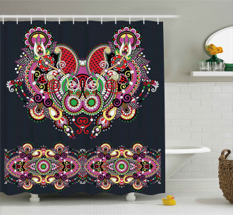 Ornate Paisley Features Shower Curtain