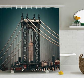 Buildings Cityscape Shower Curtain