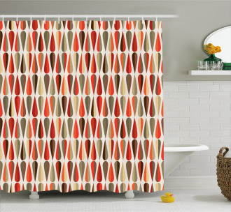 70s Retro Style Shower Curtain