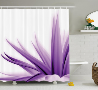Purple Ombre Lotus Art Shower Curtain