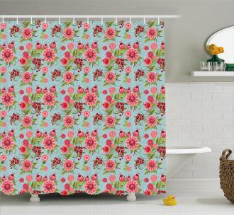 Oriental Bud Leaf Shower Curtain