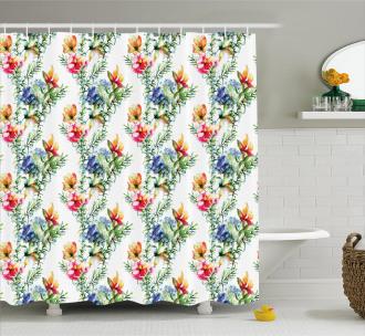 Shabby Chic Lilacs Shower Curtain