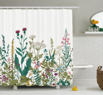 Spring Garden Hydrangeas Shower Curtain