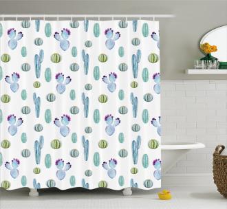 Botanic Desert Flowers Shower Curtain