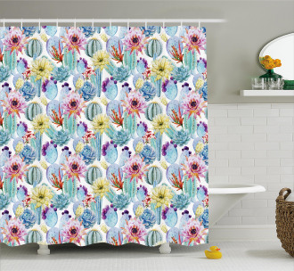 Desert Sand Wild Flowers Shower Curtain