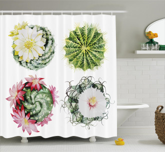 Mexican Retro Funky Cactus Shower Curtain
