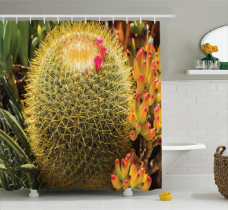 Cactus Plant with Spikes Shower Curtain