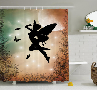 Fairy and Butterfly Wing Shower Curtain