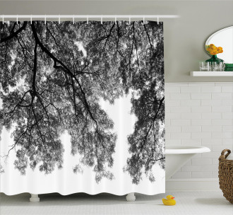 Tree Branches and Leaves Shower Curtain
