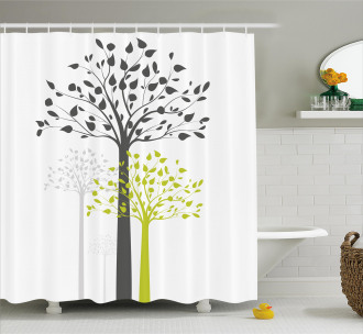 Mother Nature Trees Shower Curtain