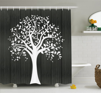 Tree with Many Leaves Shower Curtain
