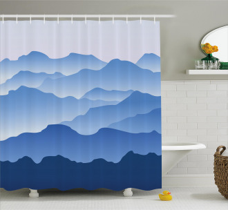 Nature Theme Silhouette Shower Curtain