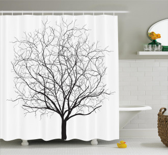 Old Withered Oak Leaf Shower Curtain