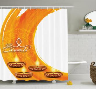 Diwali Candle Celebrate Shower Curtain