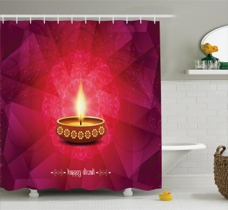 Festive Celebration Tribal Shower Curtain