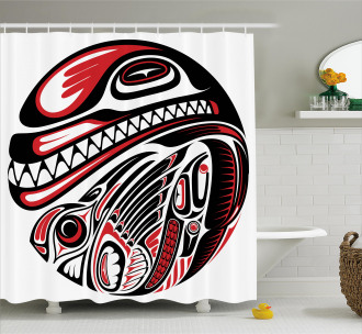 Haida Animal Art Shower Curtain