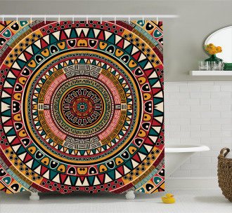 African Ethnic Color Art Shower Curtain