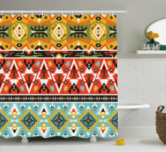 Love and Adventure Aztec Shower Curtain